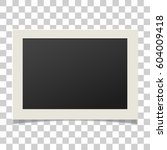 photo frame. photo frame vector.... | Shutterstock .eps vector #604009418