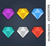 diamond vector icons set. set...