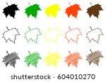 Sycamore Leaf   Color Set ...