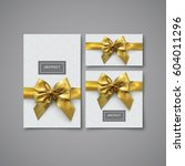 festive gift card  flyer and... | Shutterstock .eps vector #604011296