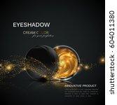 beauty eye shadows or blusher... | Shutterstock .eps vector #604011380