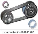belt drive mechanism | Shutterstock .eps vector #604011986