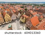 aerial view of rothenburg ob... | Shutterstock . vector #604013360