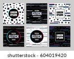 big abstract set of effect... | Shutterstock .eps vector #604019420