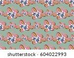 raster illustration. seamless... | Shutterstock . vector #604022993