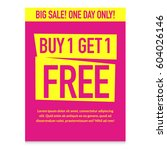 buy one get one free. big sale... | Shutterstock .eps vector #604026146