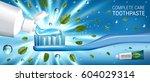 antibacterial toothpaste ads.... | Shutterstock .eps vector #604029314