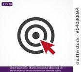 target vector  icon | Shutterstock .eps vector #604030064