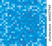 seamless pixelated water... | Shutterstock .eps vector #604037969