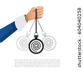 vector illustration of hand... | Shutterstock .eps vector #604040258