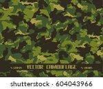 vector camouflage | Shutterstock .eps vector #604043966