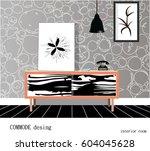 commode design. illustration of ... | Shutterstock .eps vector #604045628