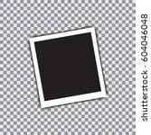 photo frame retro with shadow....   Shutterstock .eps vector #604046048