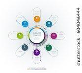 vector infographic template... | Shutterstock .eps vector #604046444