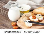 Sandwich With Creamy Curd And...