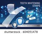 professional whitening stripes...   Shutterstock .eps vector #604051478