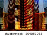 skyscrapers   multistory office ... | Shutterstock . vector #604053083