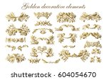 set of vector graphic elements... | Shutterstock .eps vector #604054670