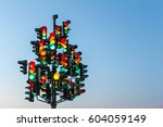 Traffic Light Tree With A Lot...