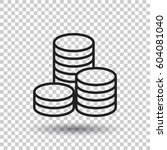 coins stack vector illustration.... | Shutterstock .eps vector #604081040