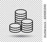 coins stack vector illustration.... | Shutterstock .eps vector #604081040