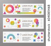 abstract template web banner... | Shutterstock .eps vector #604085468