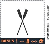 paddle icon flat. simple... | Shutterstock . vector #604088384