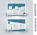 brochure mock up design... | Shutterstock .eps vector #604097699