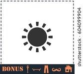 sun icon flat. simple...