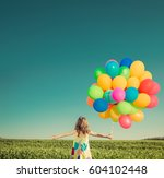 happy child playing with bright ... | Shutterstock . vector #604102448