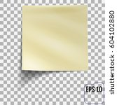 sticky note isolated on... | Shutterstock .eps vector #604102880