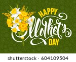 happy mothers day design with... | Shutterstock .eps vector #604109504