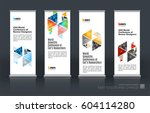 abstract business vector set of ... | Shutterstock .eps vector #604114280