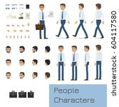 businessman character generator ... | Shutterstock .eps vector #604117580