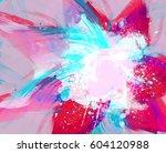 abstract watercolor hand... | Shutterstock . vector #604120988