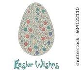 easter egg colorful... | Shutterstock .eps vector #604122110