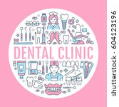 dentist  orthodontics medical... | Shutterstock .eps vector #604123196