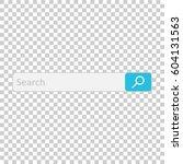search bar field. vector... | Shutterstock .eps vector #604131563
