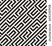 interlacing lines maze lattice. ... | Shutterstock .eps vector #604140908