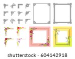 decorative colorful frame...   Shutterstock .eps vector #604142918
