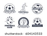 set of football club graphic...   Shutterstock .eps vector #604143533