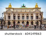 opera garnier in paris    Shutterstock . vector #604149863