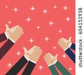 human hands clapping. vector... | Shutterstock .eps vector #604152938