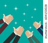 human hands clapping. vector... | Shutterstock .eps vector #604153028