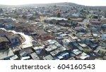 Aerial Bird View View Of Slum...