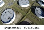 aerial top down view of oil... | Shutterstock . vector #604160558