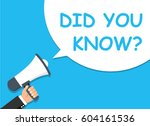 hand holding megaphone.... | Shutterstock .eps vector #604161536