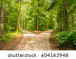 crossroads  two different... | Shutterstock . vector #604163948