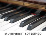Close Up Of Dusty Keys Of A...