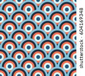 retro 60 s geometric seamless... | Shutterstock .eps vector #604169348